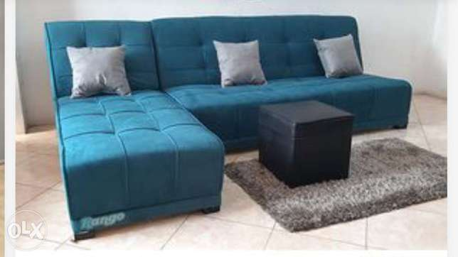 Convertible Sofa and Chase Lounge Chair , navy blue , 6 mon new