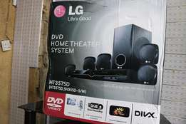 Brand new LG home sound system with dvd,5speakers radio and wofer.