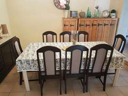 Dinging Table & Chairs & Side Cabinet