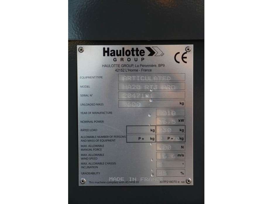 Haulotte HA20RTJPRO - 2018 - image 8