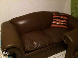 2 2 seater Genuine leather couches