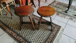 2 x Imbuia Side Tables for R400