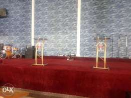 Preacher and interpreter stands