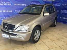 2001 Mercedes-Benz ML 320 Automatic R79,900.00 Ref(RR53)