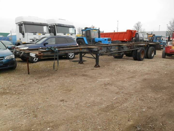 Van Hool 2 Axle Container trailer 1 ''40 and 2''20 - 1990