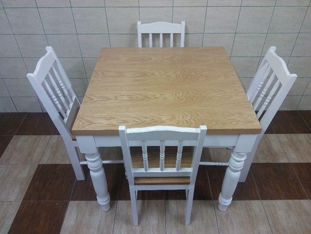 Krzesła Stół Kwadratowy 80x80 2 X 45 Wkładki Do Salonu