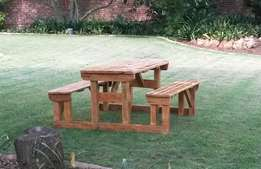Garden bench patio restaurant outdoor wooden benches