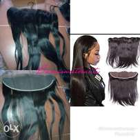 Frontal human hair closure grade 9A