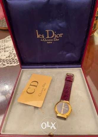 CHRISTIAN DIOR plaque or g20m vintage watch