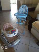 High chair and walker