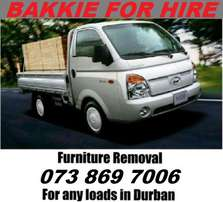 Need to move some Furniture? BAKKIE FOR HIRE