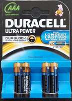 AAA Duracell Ultra Power Batteries - Brand New