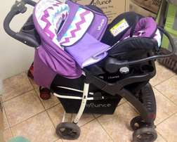 Barely used Bounce Travel system
