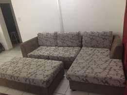 URGENT SALE. Durable sofa set/ corner couch with foot rest