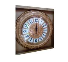 gold round clock big