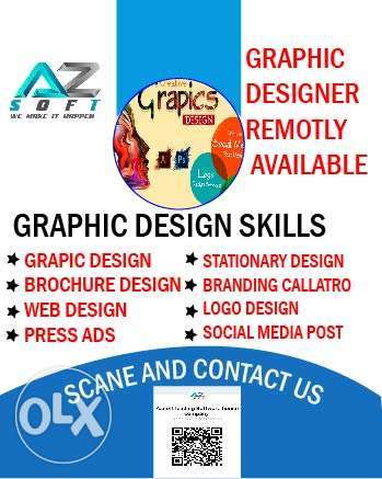 Professional graphic Designer Available