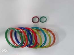 Glass bangles and 2 rings