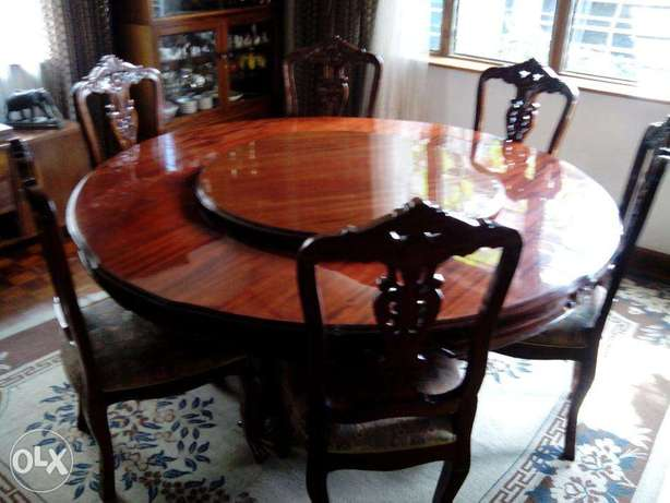 8 chair dining table with lazy suzy Nairobi West - image 4