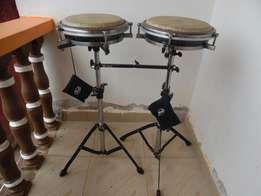 Pearl Travel Congas with stands and carrying cases