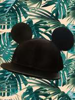 Black Mickey Mouse Cap for ladies