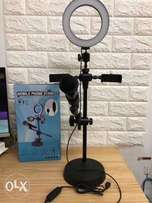 4 in 1 Mobile Live Voice Professional Stand with Light and Mic holder