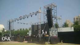 stage,sound,lights,screens,generators,barriers for hire