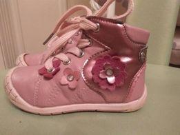 91a0eadbe8d633 Детские демисезонные кожаные ботинки для девочки Apawwa 21 разм,13см