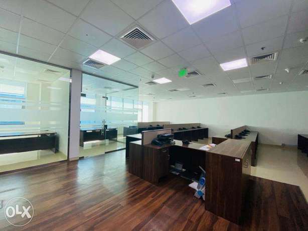 300 sqm Partition office space Airport road Rent 21,000 QR only المطار القديم -  2