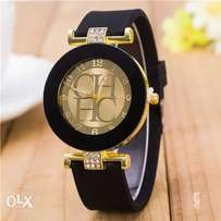 Unisex 2017 Hot sale Fashion Black Geneva Casual CHHC Quartz watches