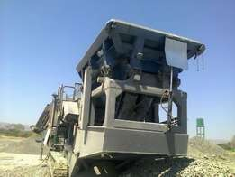 Used Kleemann MC110Z EVO Mobile Jaw crusher.