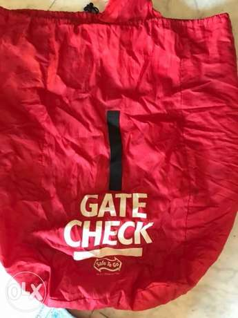 gate Check car seat storage and travel