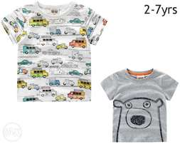 Cute cartoon Tshirt for 3yrs kids 100% cotton