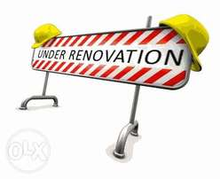 We do renovation and cleaning services