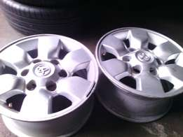 15 inch rims for Toyota bakkie each rim is R700 I have a set of them
