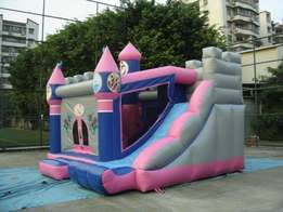 Bouncing castles, trampolines for hire.