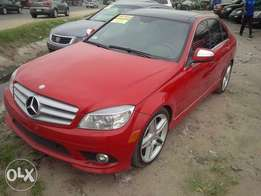 Used 2008 mercedes benz c300 red