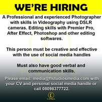 A Cinematographer Needed Urgently