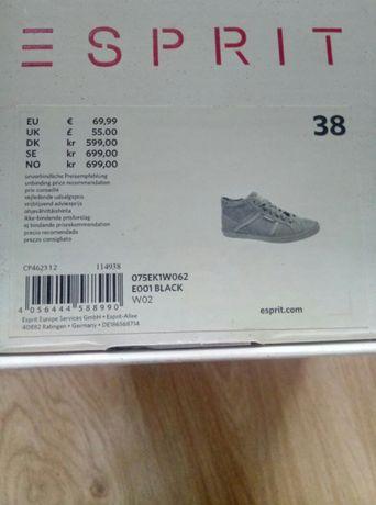9c379faa0fb7d Esprit nowe buty 38 damskie czarne trampki sneakersy tenisówki półbuty  Kraków - image 2