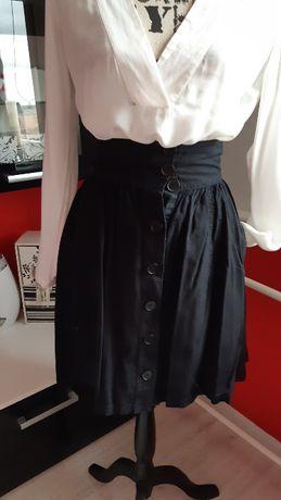 a66bbf28 H&M plisowana spódnica z guzikami czarna XS 34 Słupsk • OLX.pl