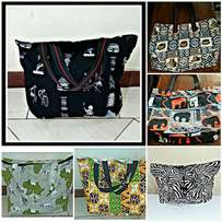 African print home made Shopping bags