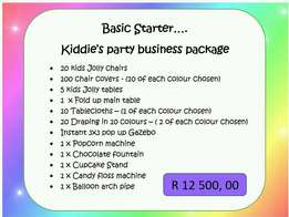 Affordable prices on kids party business