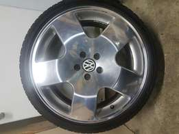 A set of phat 5 rims high polished rims only
