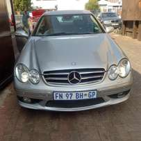 SALES: 2004 CLK55 AMG auto with sunroof and low km R 180000