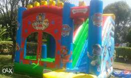 Bouncing castle trampolines water slides puppet shows