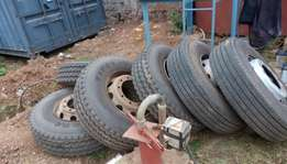 Slightly used lorry tyres size 316