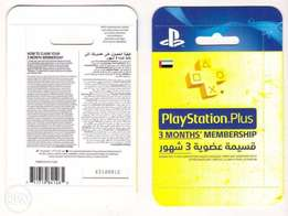 Playstation Plus 3months United Arab Emirates