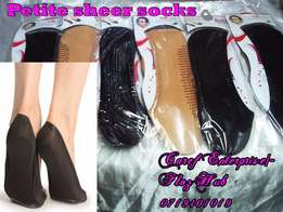 Petite footcover sheer socks at 45.00