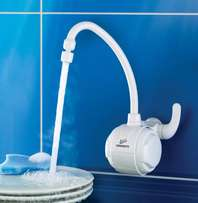 electric tap - hot water in the basin -no need for geyser