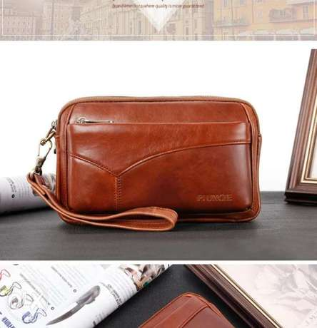 Leather Clutch bag high quality الرياض -  3