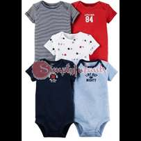 Carters Baby Boy's 5-Pack Multi Striped Bodysuits